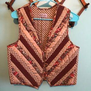 VTG 70s Patchwork Quilted Vest